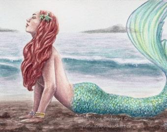 On the Beach - fantasy fairy gothic art by Deanna Bach