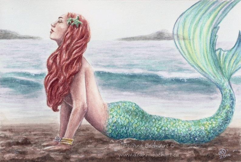On the Beach  fantasy fairy gothic art by Deanna Bach image 0
