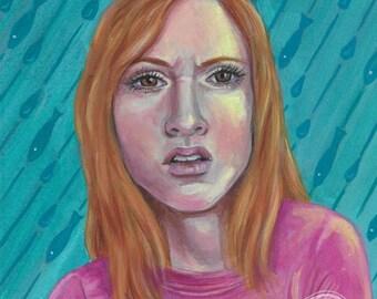 """ORIGINAL - """"WTF"""" acrylic 5x7 painting by artist Deanna Bach"""