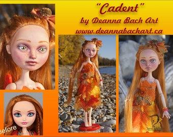 Cadent - ever after high repaint custom doll fairy fantasy gothic art by Deanna Bach