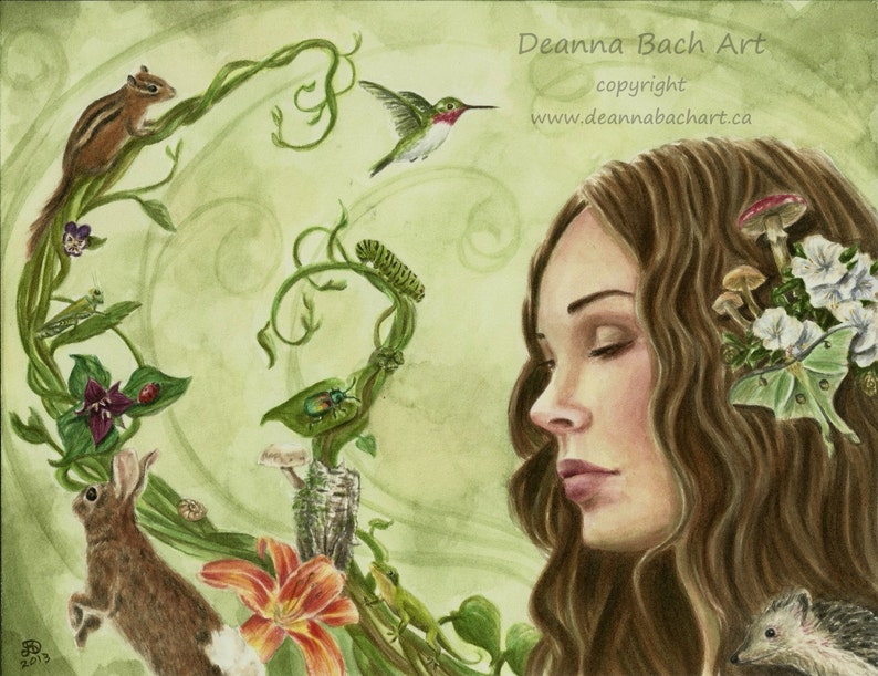Songs from the Wood  fantasy fairy gothic art by Deanna Bach image 1