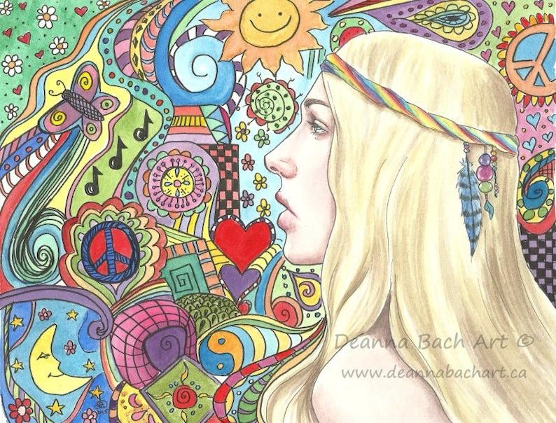 I Dream In Colour  fantasy fairy gothic art print by Deanna image 0