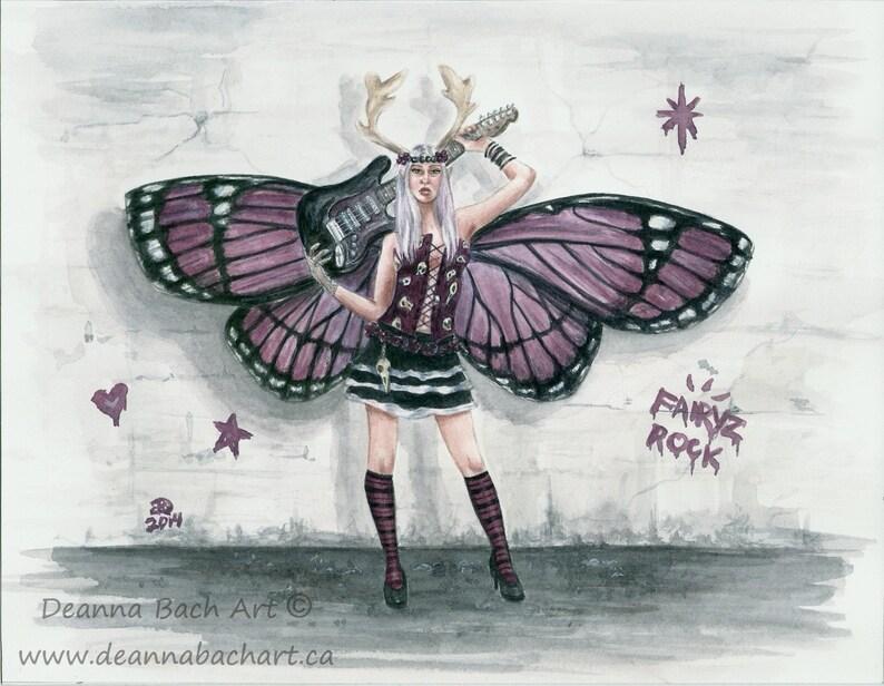 Fairyz Rock  fairy fantasy gothic art by Deanna Bach image 0