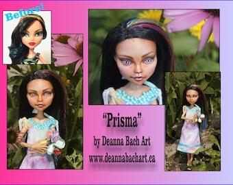 Prisma monster high repaint custom doll by fantasy fairy gothic artist Deanna Bach