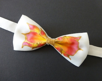 Flames of Fire Hand Painted Bow Tie by Julie Riisnaes