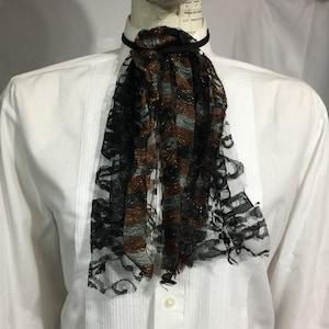 cosplay Geechlark 5957 Goth lace Jabot vamp lace collar Witch necktie