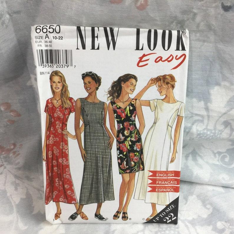 e9c6744f62d236 New Look 6650 Maxi Dress sewing pattern Misses princess | Etsy