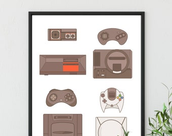 Video Game Decor, Gamer Girl, Nerdy Man Cave Wall Art Decor, College Dorm Poster, game Lover Locker Poster, Gift For Boyfriend Art Print