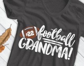 Football SVG, Football Grandma SVG, football grandson svg, football grandmother svg, grandparent football shirt image, sublimation, DXf PNG