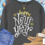 New Years SVG, happy new year svg, new year svg, distressed, new year shirt design, sublimation, cut file, Svg DxF PnG
