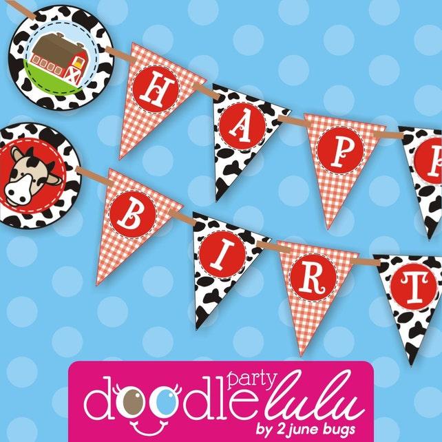 Farm Birthday Party Banner Decorations