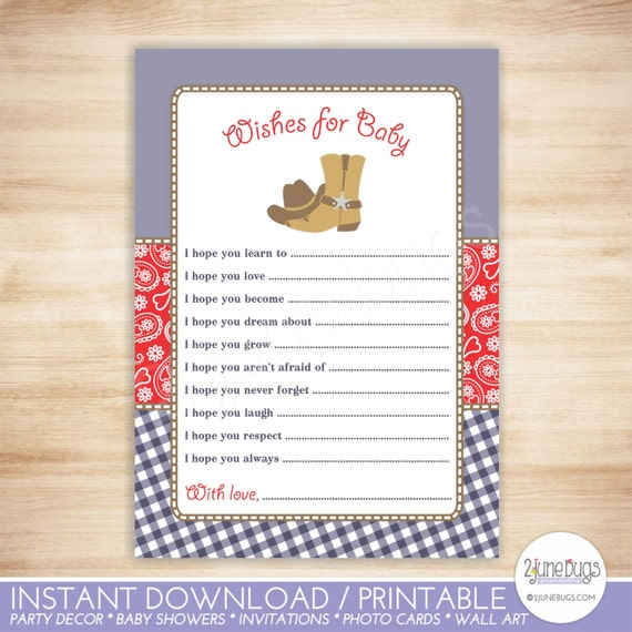 Baby Shower Wishes Cowboy Wishes For Baby Shower Activity Advice