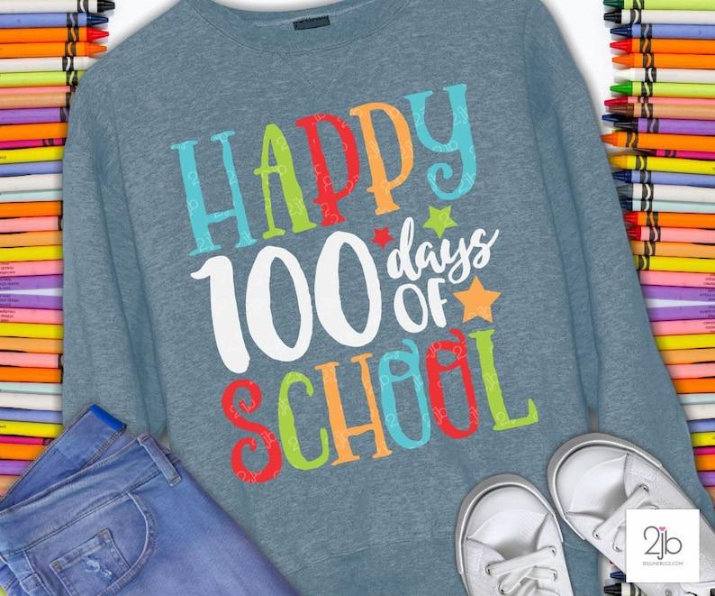 100 Days of School SVG 100th Day of School svg Teacher Svg image 0