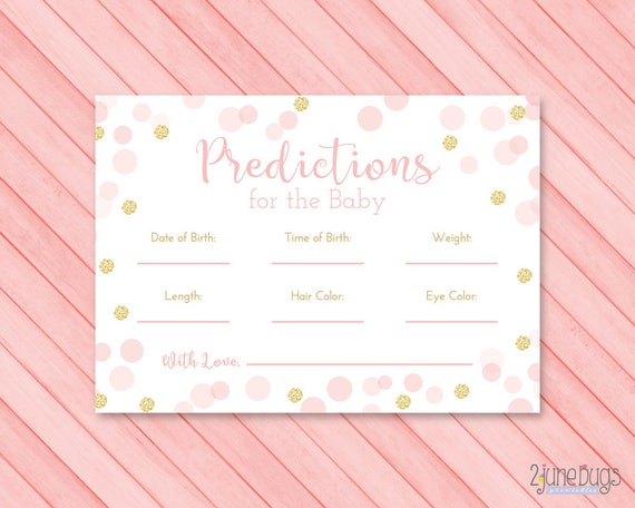photo relating to Baby Prediction Cards Free Printable named Purple and Gold Youngster Shower Prediction Playing cards, Confetti Glitter