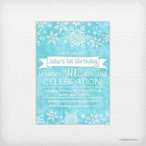Boy Winter Onederland Invitation, Blue Onederland Birthday Invitation, Winter Boy 1st Birthday Invitation, Winter One-derland Birthday Party