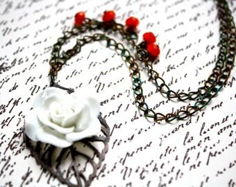 Leaf and Flower Necklace