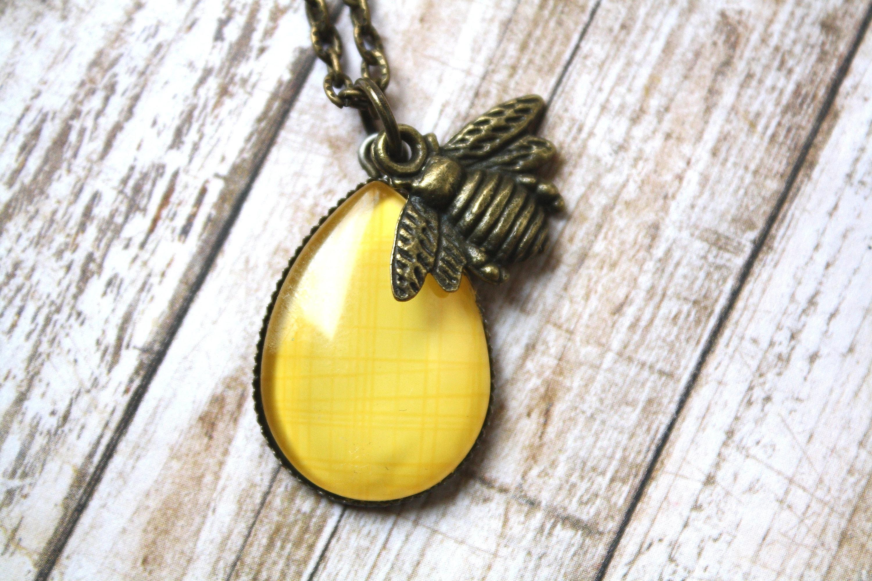 Honey Bee Bijoux Pour Femme//Filles Chaîne Mode Mignon Bee Collier Pendentif