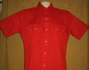 Western Shirt Dee Cee Red M Vintage