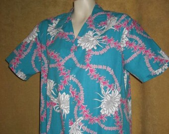 Mens Hawaiian Shirt Kai Nani L 70s Vintage