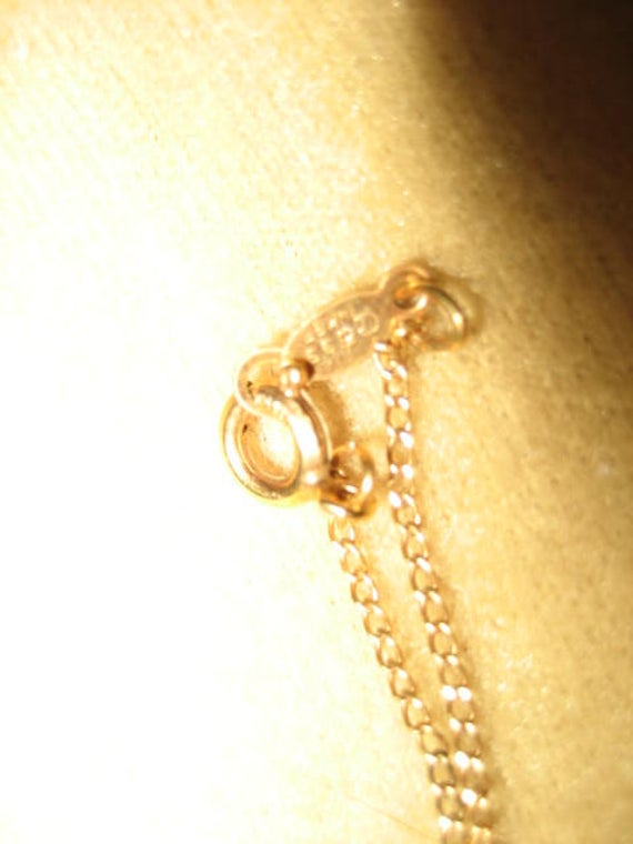 Gold Filled Necklace Crystal Pendant Fairycore Vi… - image 6
