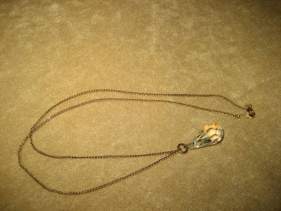 Gold Filled Necklace Crystal Pendant Fairycore Vi… - image 2