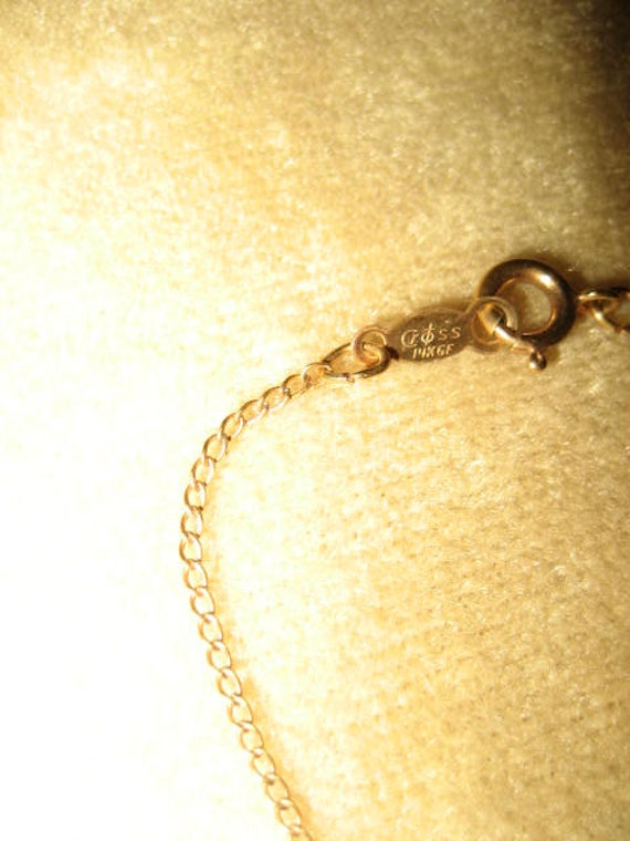 Gold Filled Necklace Crystal Pendant Fairycore Vi… - image 4