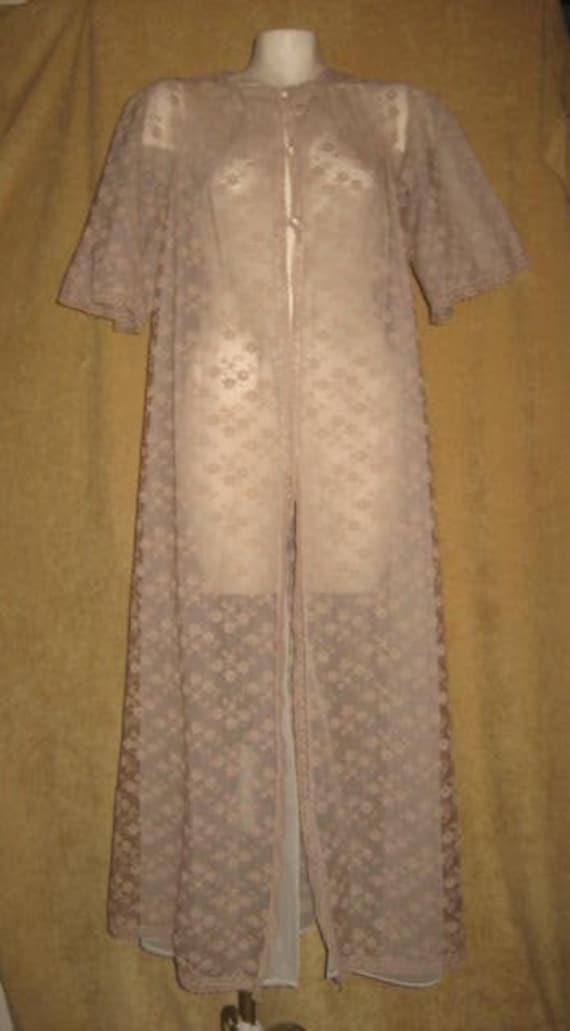 Dressing Gown Wedding Bridal Sheer Lace Vassarette