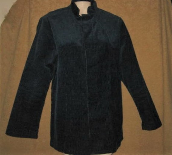 Vintage 60s Mens Blue Nehru Jacket