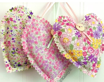 Floral Heart, Hanging Heart, Scented Lavender Heart, Lavender Heart, Floral Fabric Heart, Home Decor, Sevenberry Floral - Choose your design