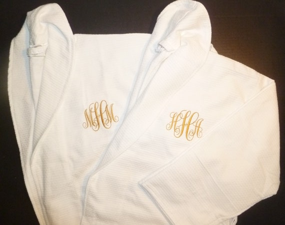 46a3429cfd 2 Personalized Monogrammed All Cotton Robes Set of 2 Robes
