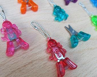 HiyaHiya Octopus Snips / tiny craft scissors / sewing notions / knitting notions / knit tool / key chain / portable yarn snips / cephalopod