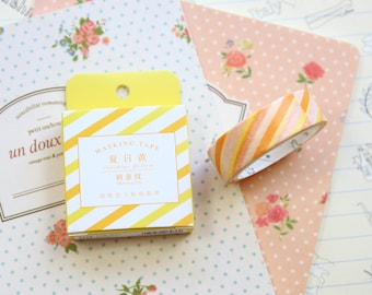 Yellow Stripes Cardlover Simple Series Washi Masking Tape