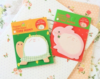 Fusen Time Memo Animal Shapes sticky notes