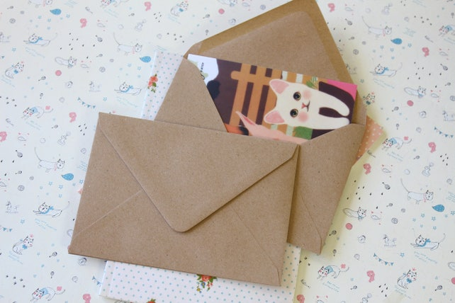 Kraft Brown C6 plain envelopes
