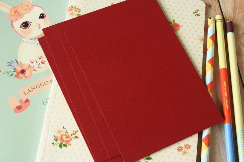 Burgundy Claret Dark Red  postcard blanks