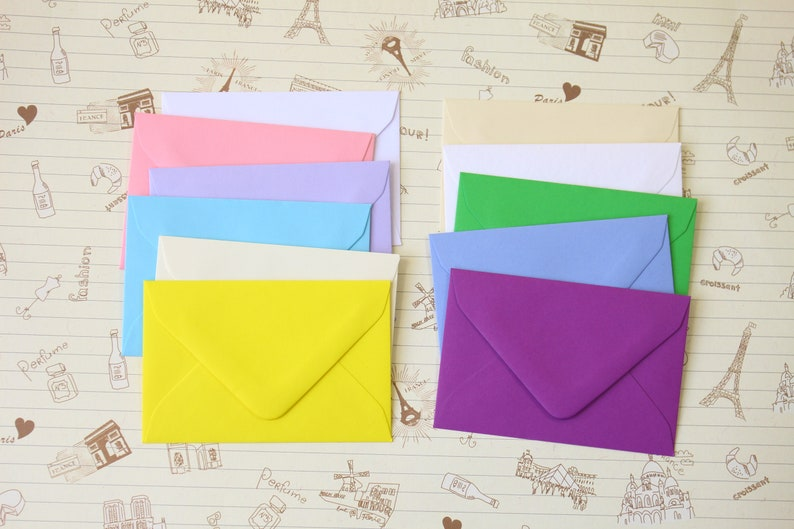 Hammered White colour mini envelopes and note cards