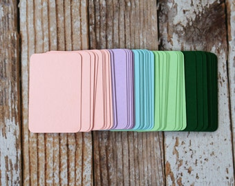 50pc SPRING Colours Lakeland Series Business Card Blanks