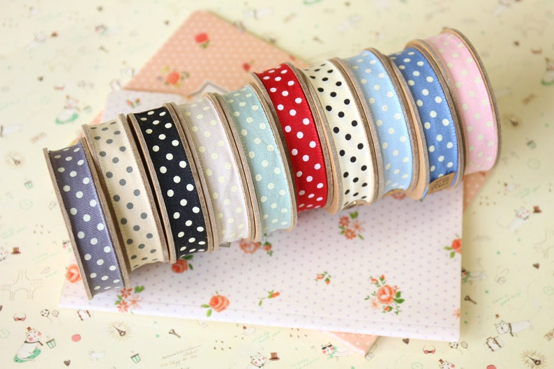 Beige with Cream Dots country style polka dot ribbon