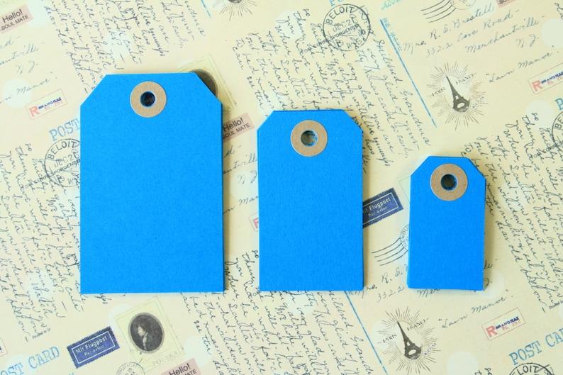 AQUAMARINE Blue Reinforced Luggage Tags