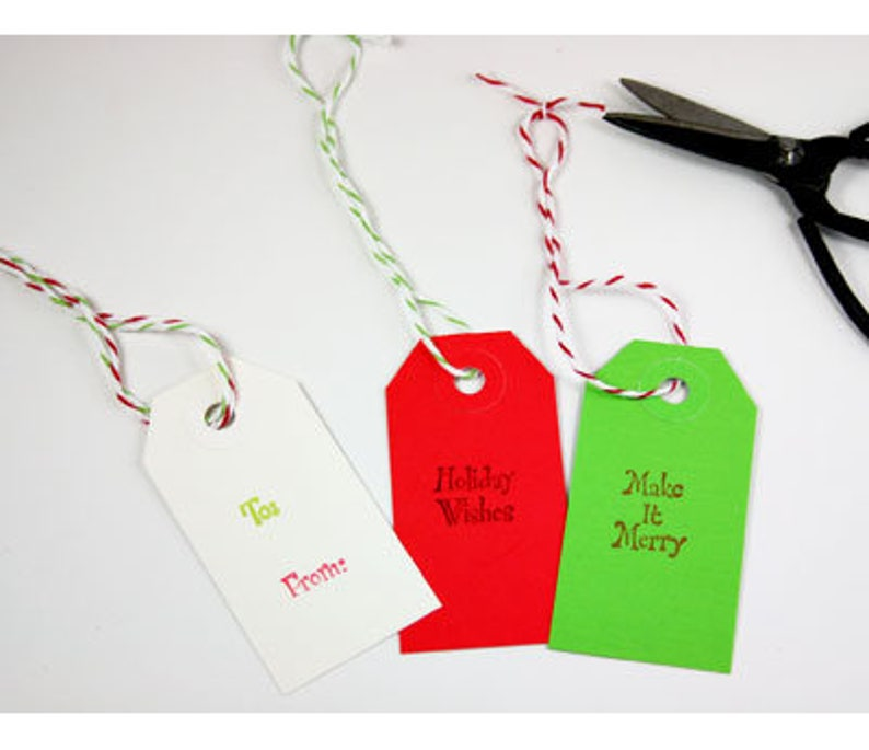 Small Red colour luggage tags