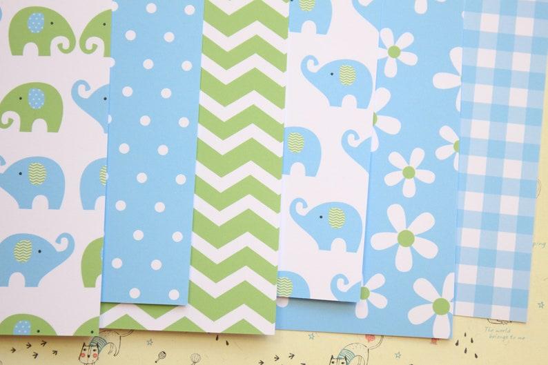 Set 02 Cute Elephants mix printed card stock 250gsm