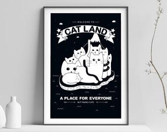 Cat Print - Cat Printable Wall Art - Downloadable Cat Print - Digital Cat Prints - Nursery Art