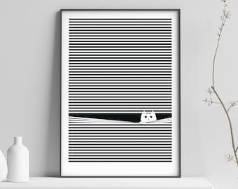 Downloadable Cat Print - Cat Printable Wall Art - Downloadable Art for Home - Digital Cat Prints - Home Decor - Cat Print for Kitchen