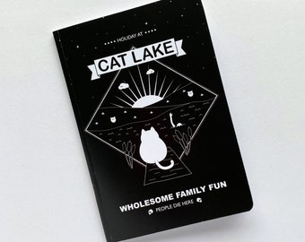 Cat Pocket Notebook, back to school, pocketbook with lined pages, cute sketchbook, stationery booklet, A6 book