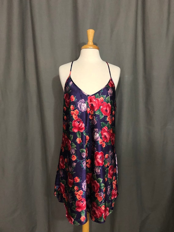 90s Floral Intimate Moods Slip - XL