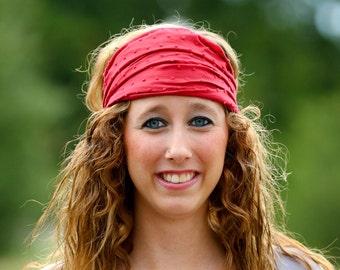 Lightweight Headwrap, Red Head Wrap, Bad Hair Day Headscarf, Headband Bohemian, Scarlett Head Wrap Solid (#2714) S M L X