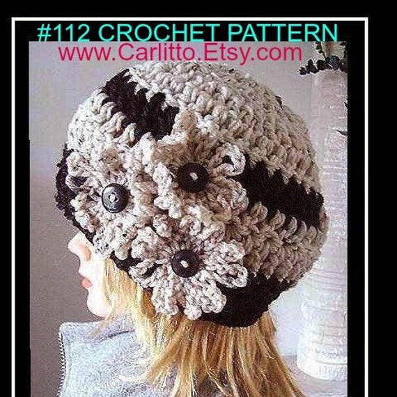 CROCHET hat PATTERN Hat 30 minute hat crochet pattern  3ee48020671