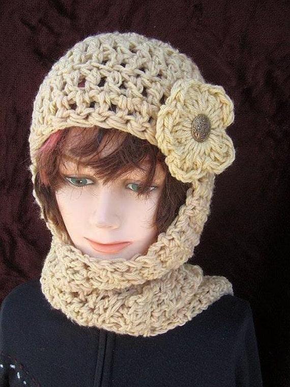 113 Crochet Pattern Hat Scarfhat Scarf Combo Hood Etsy