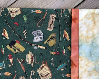 Fly-Fishing Lures Pillowcase  Gift for Her Gift for Him Man-Cave Decor Den Decor Teen Gift