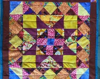 Table Runner Reversible Quilted Kaffe Fassett Pattern Picnic Table Quilt Wife Gift Gift for Her Diningroom Decor